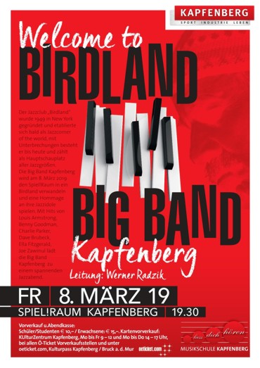 08.03. - Big Band Kapfenberg - Welcome to Birdland